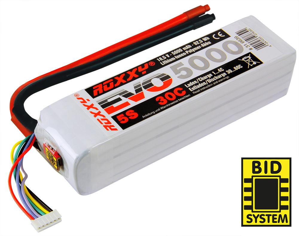LiPo-Akku ROXXY Evo Lipo 5-5000 30C ohne Stecker