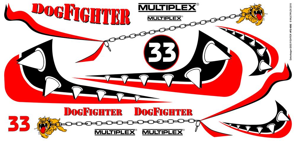 Dekorbogen Racer DogFighter