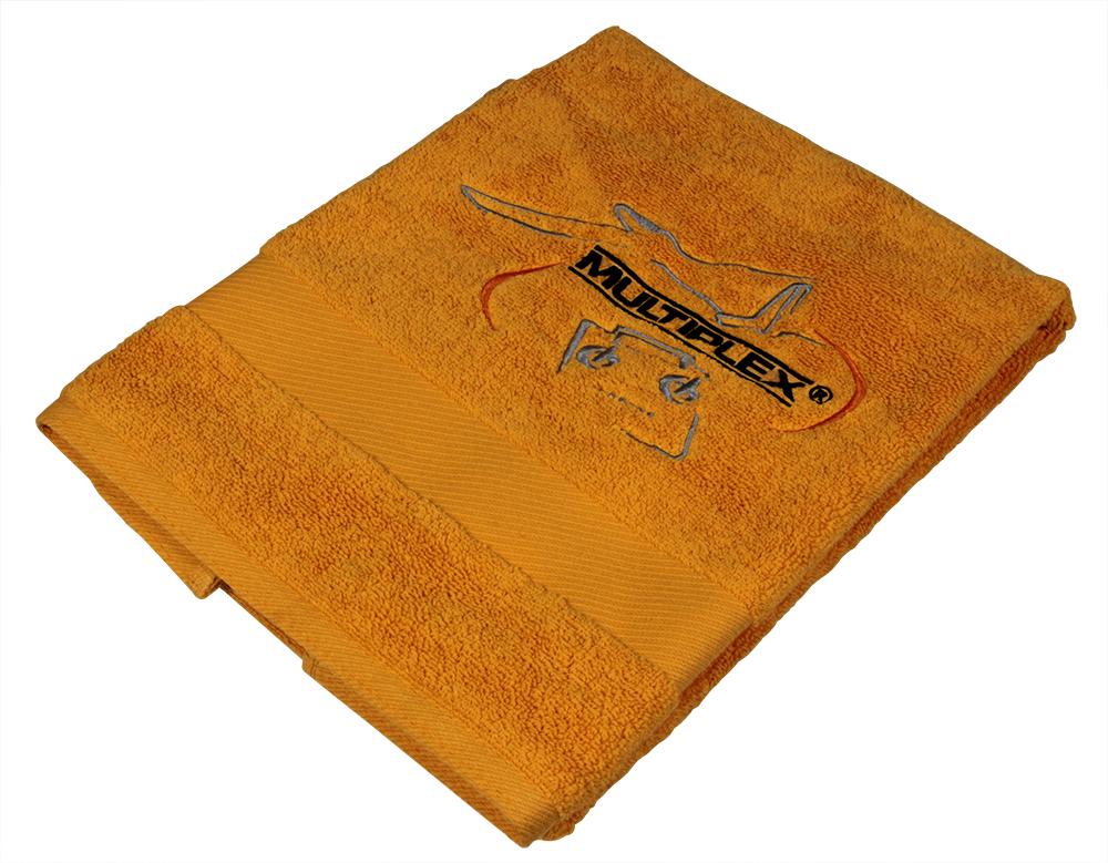 Multiplex Handtuch orange mit MPX Logo 50x90 cm