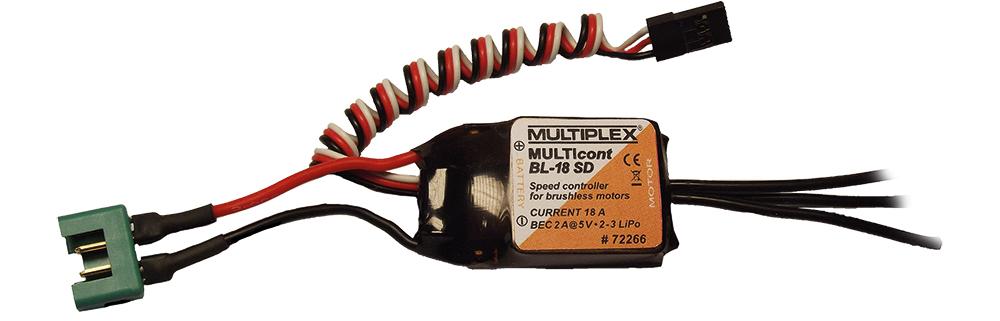 Multiplex Regler MULTIcont BL-18 SD STUNTMASTER