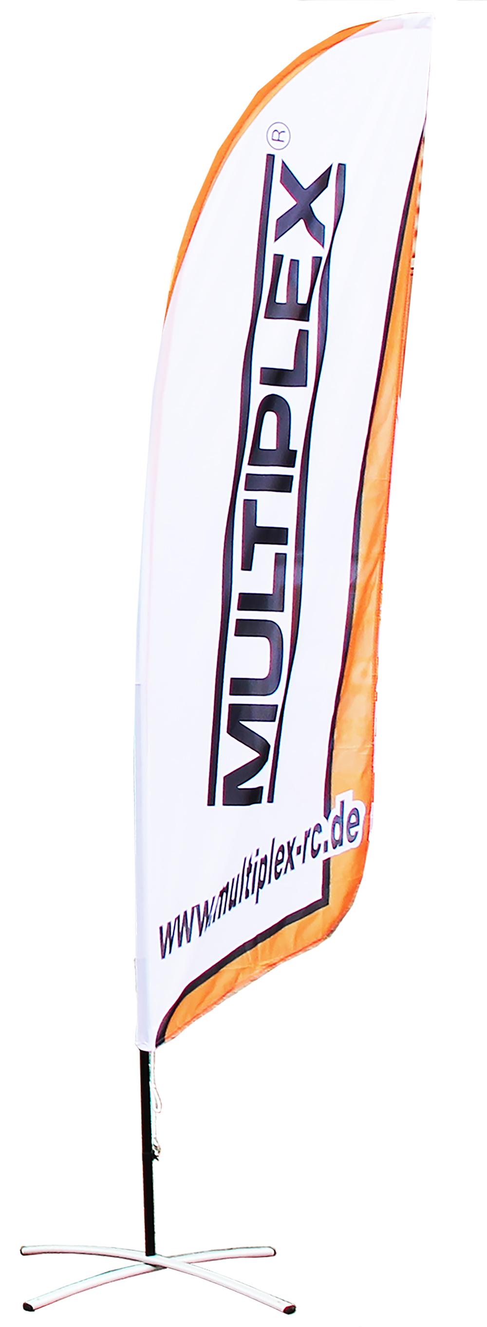 Multiplex MPX-Beachflag mit Bodenhalterung