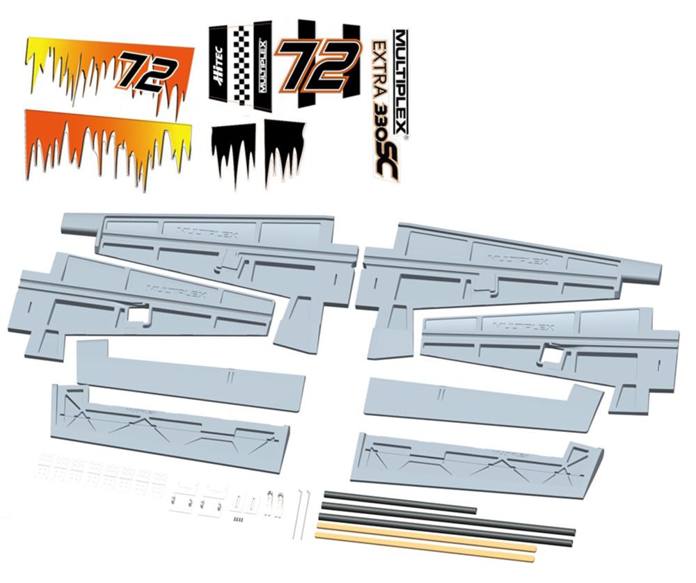 Flächensatz(Schaumteile weiß)Extra 330 S
