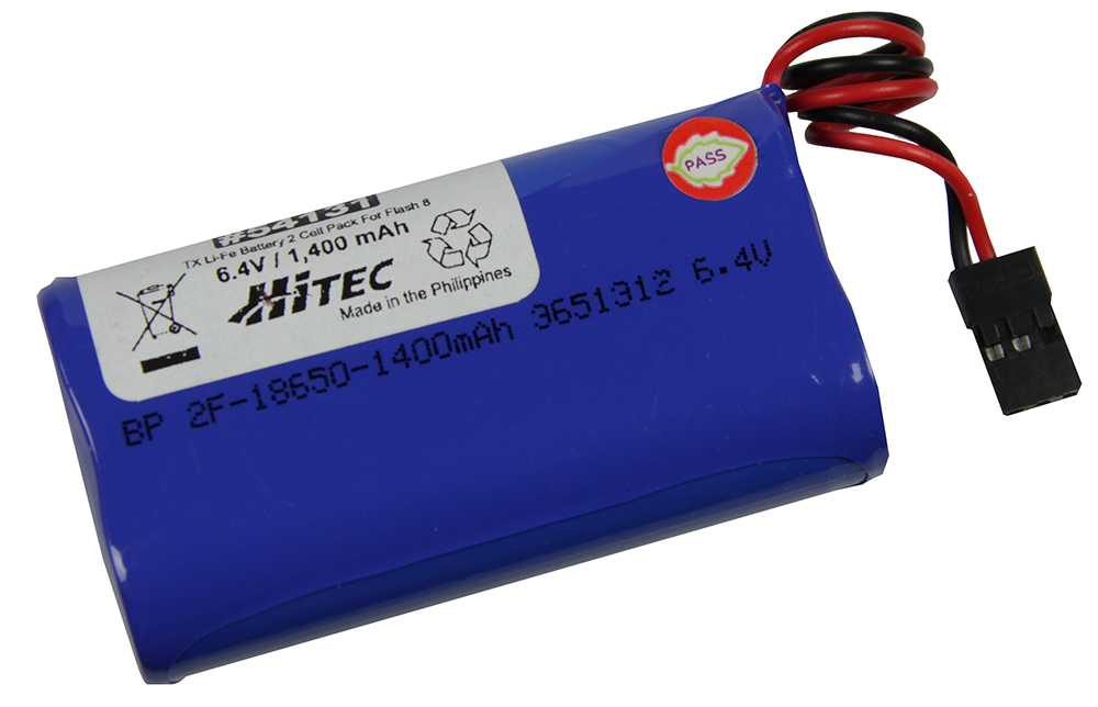 Hitec Akku LiFe 2-zellig 1400mAh 6,4V f. Flash 8