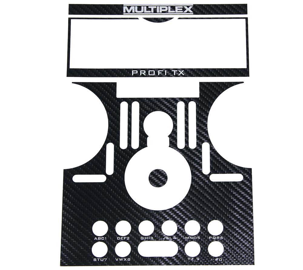 Multiplex Dekorbogen PROFI TX carbon schwarz