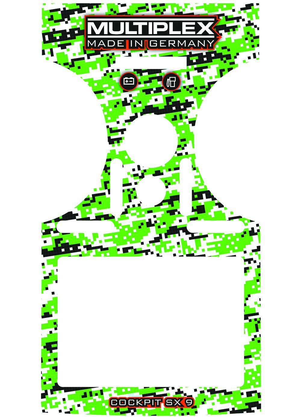 Multiplex Dekorbogen COCKPIT SX 9 grün