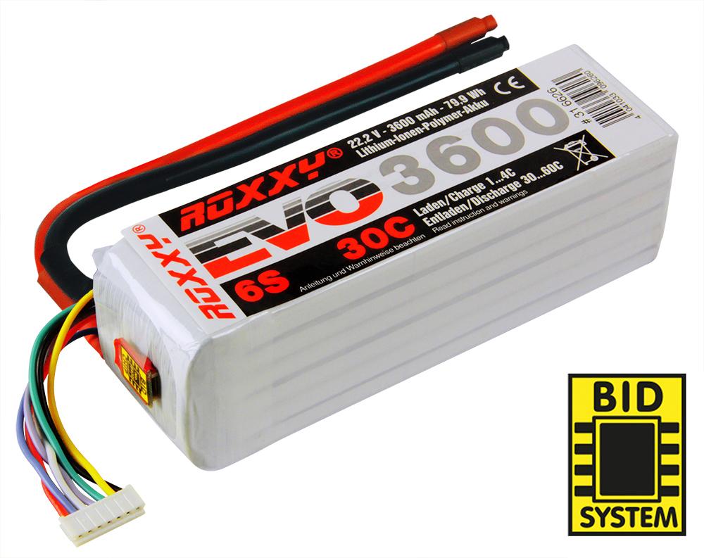 LiPo-Akku ROXXY Evo Lipo 6-3600 30C ohne Stecker