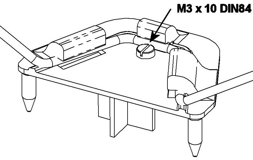 Fahrwerkshalter mit Schraube (MiniMag/AcroMaster/