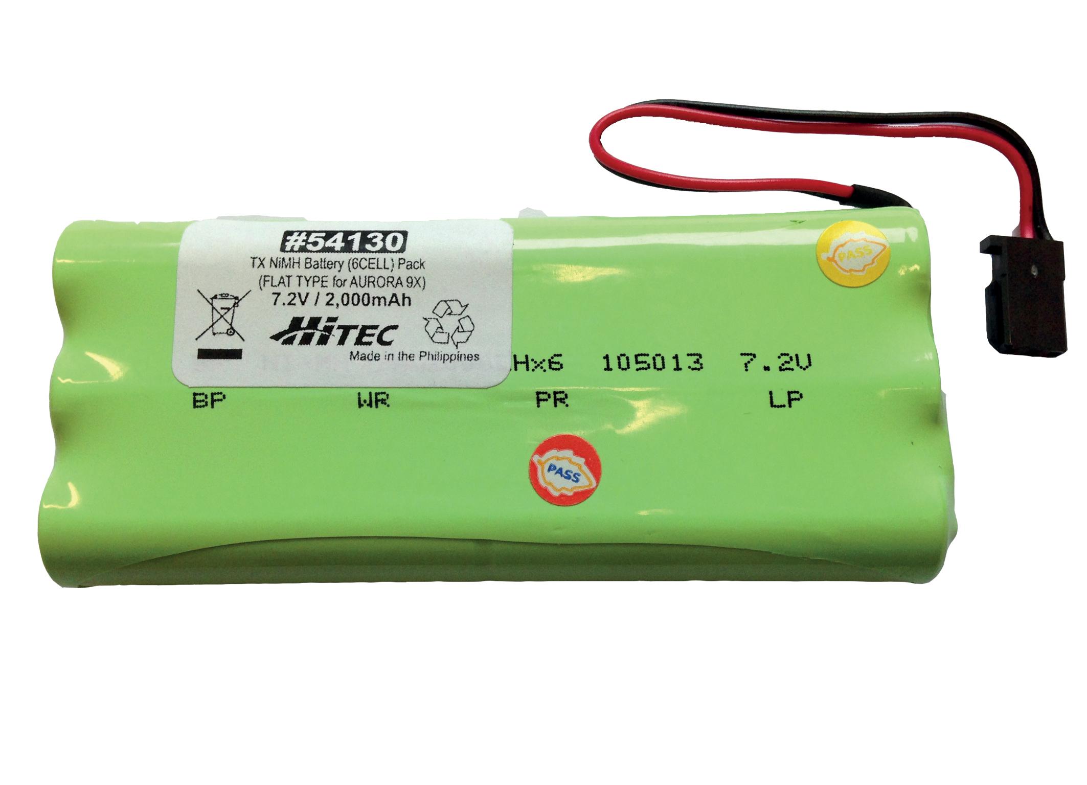 Hitec Senderakku AURORA 9X 2000mAh 6 Zellen NiMH (