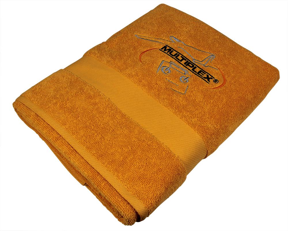Multiplex Badetuch orange mit MPX Logo 70x140 cm