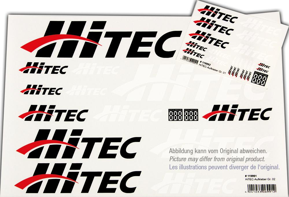 Hitec Aufkleberset HiTEC-Logo schwarz/weiß/rot 100