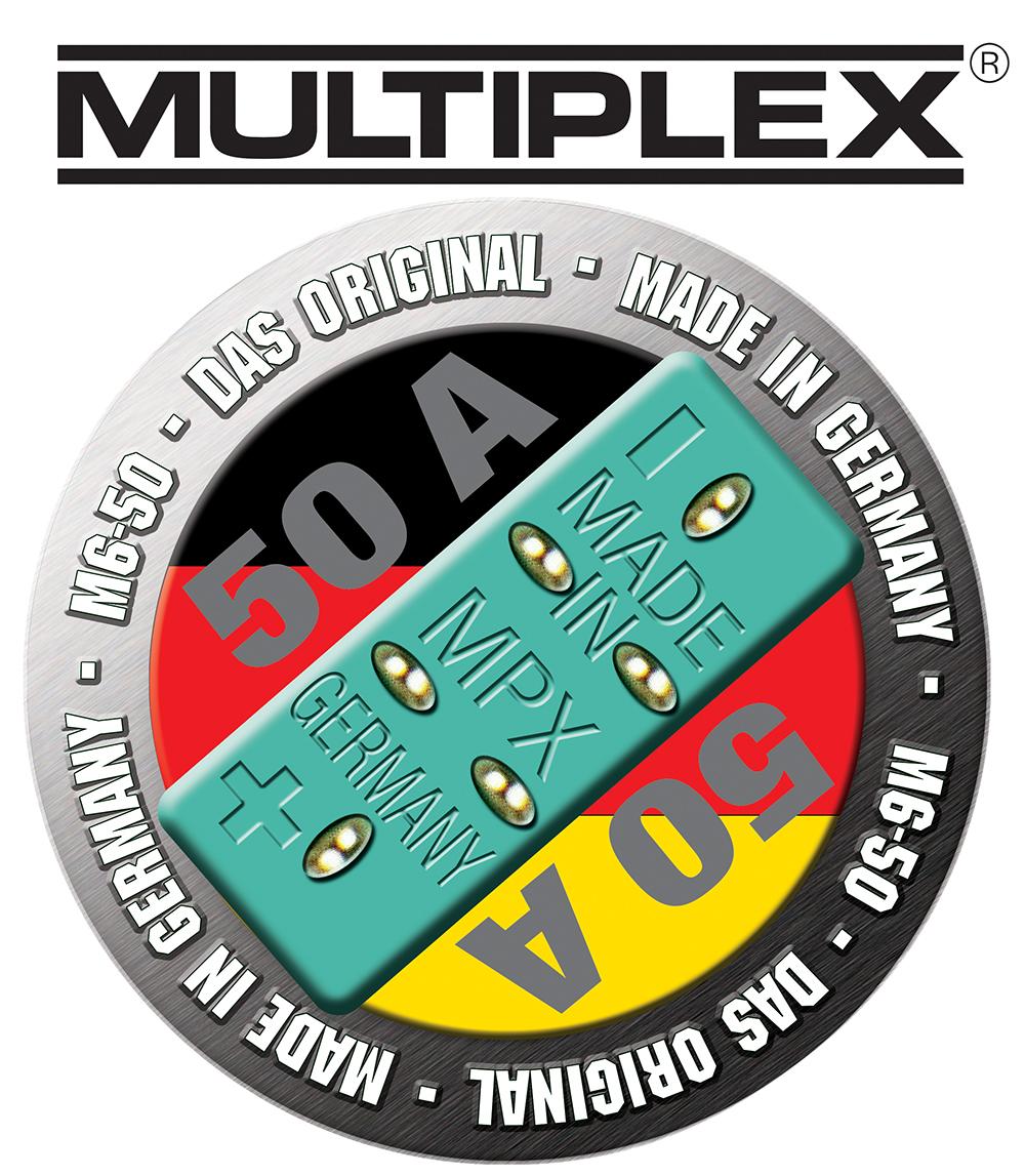 Multiplex MPX-Stecker M6-50,3 Stück
