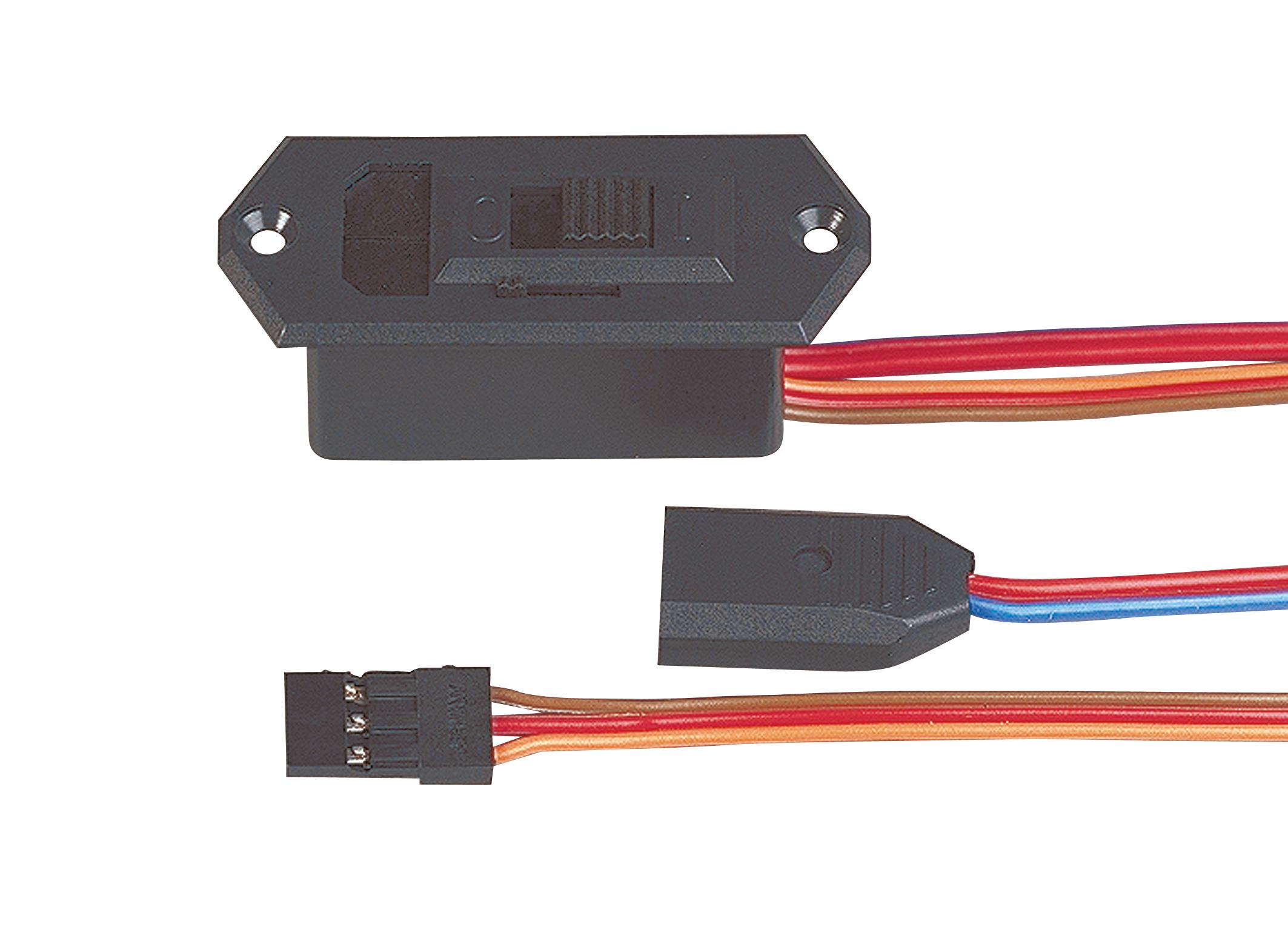 Multiplex Schalterkabel sw/LB/MPX Akku (UNI)