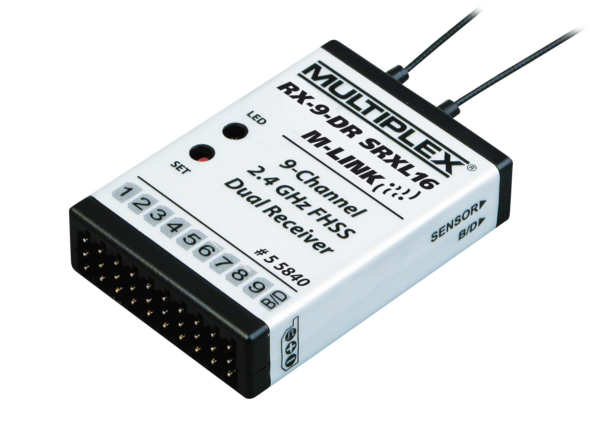 Multiplex Empfänger RX-9-DR SRXL16 M-Link