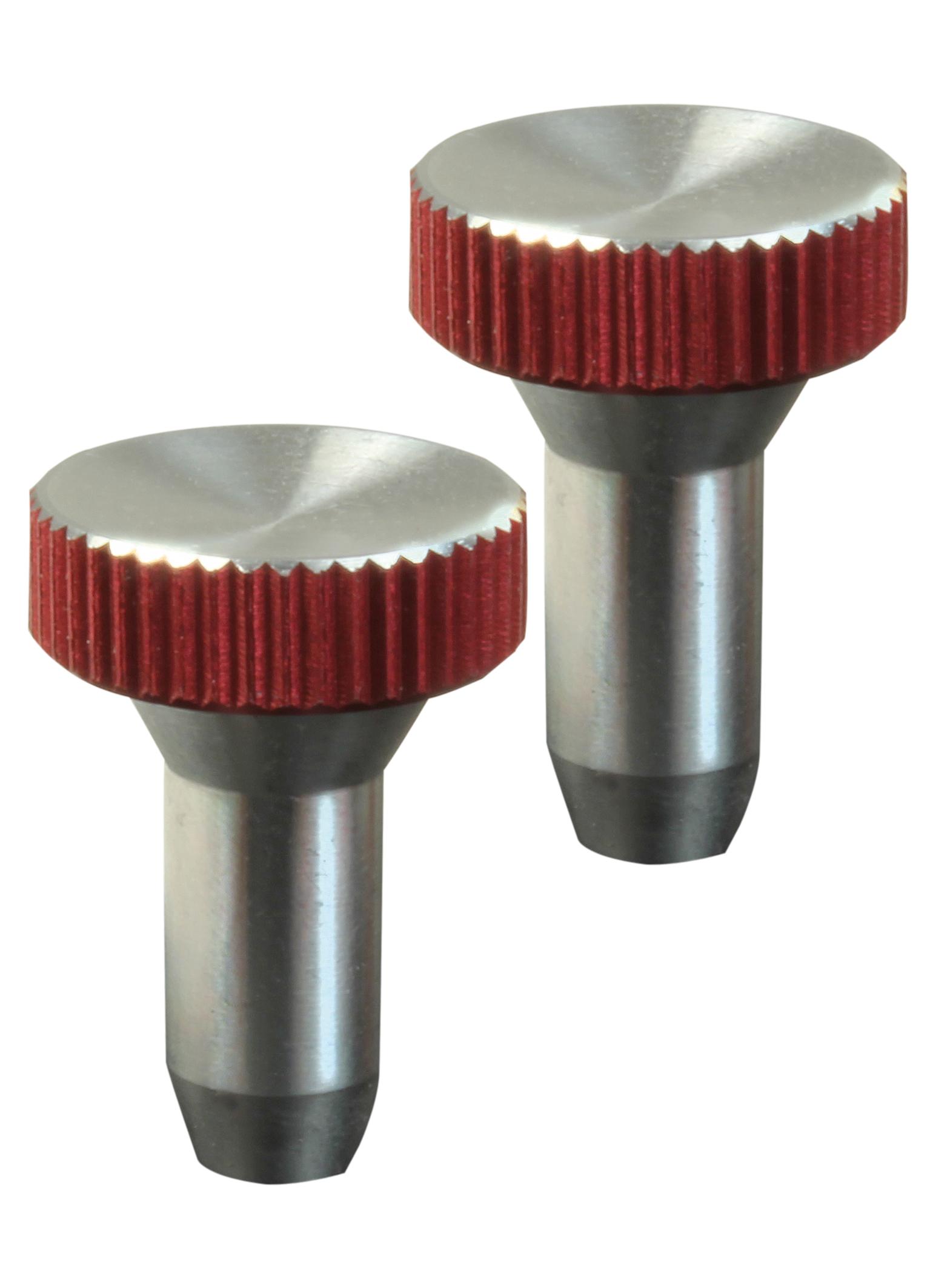 Knüppelgriffe Alu rot flach universal(Paar)