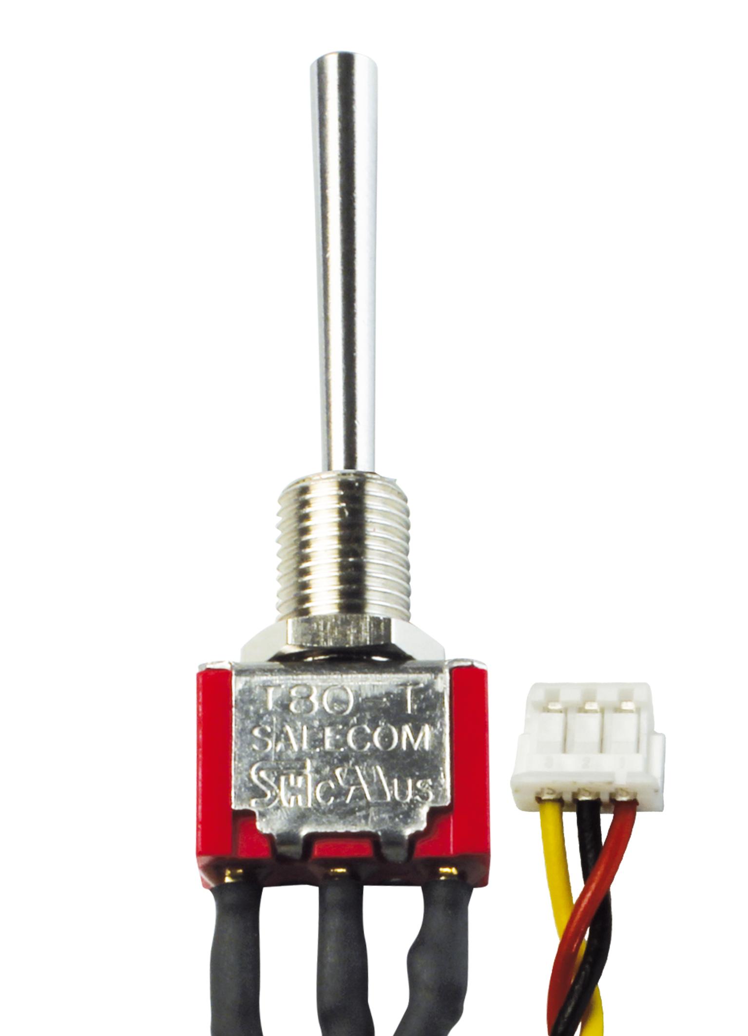3-Stufen-Schalter EIN/AUS/EIN lang (Micro)