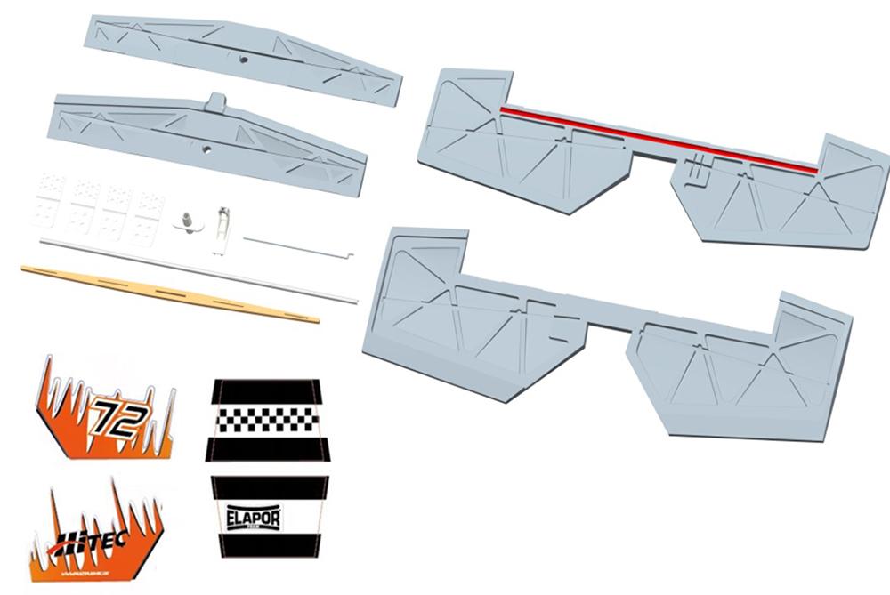 Höhenruder (Schaumteile weiß)Extra 330 S